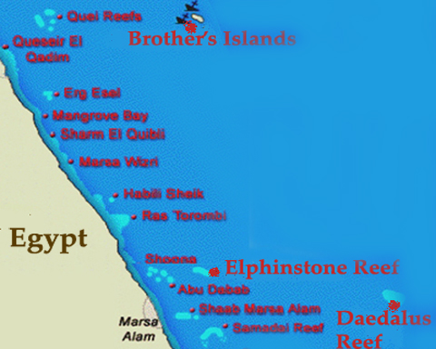 Red Sea Liveaboard Diving Safaris In The South Red Sea Marsa - Map of egypt marsa alam