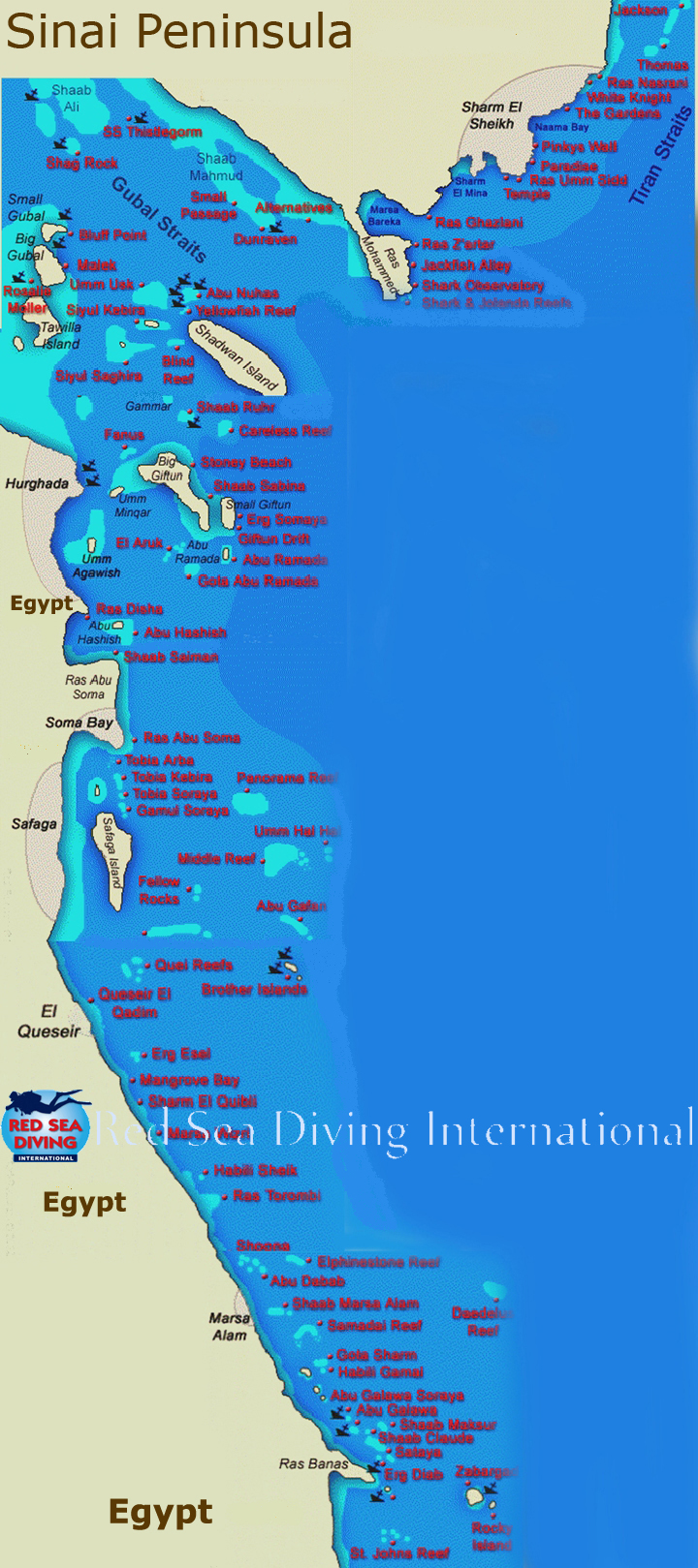 Red Sea Liveaboard<br>Diving Safaris - <br>All Cruise Routes